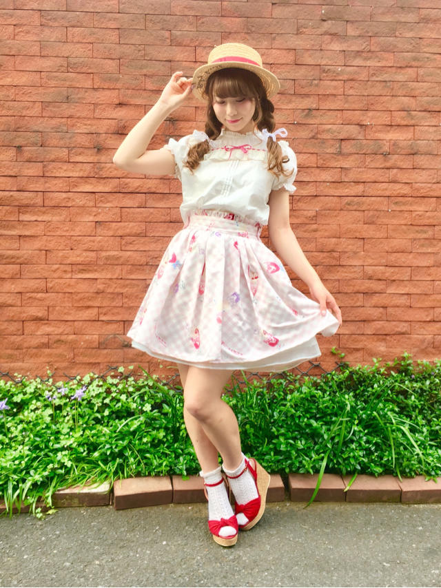 mayu♡Fancy Soda Float柄スカートでSweet girly code♡