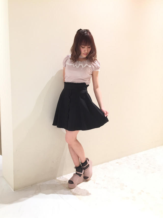 Pink × Black ♡ girly coordinate!