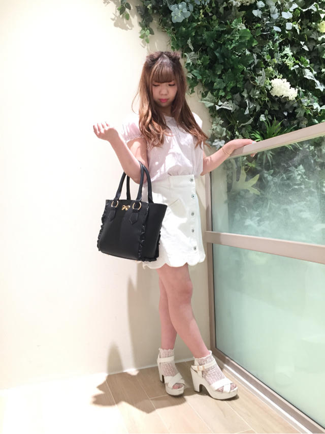 Pink×White♡girly coordinate