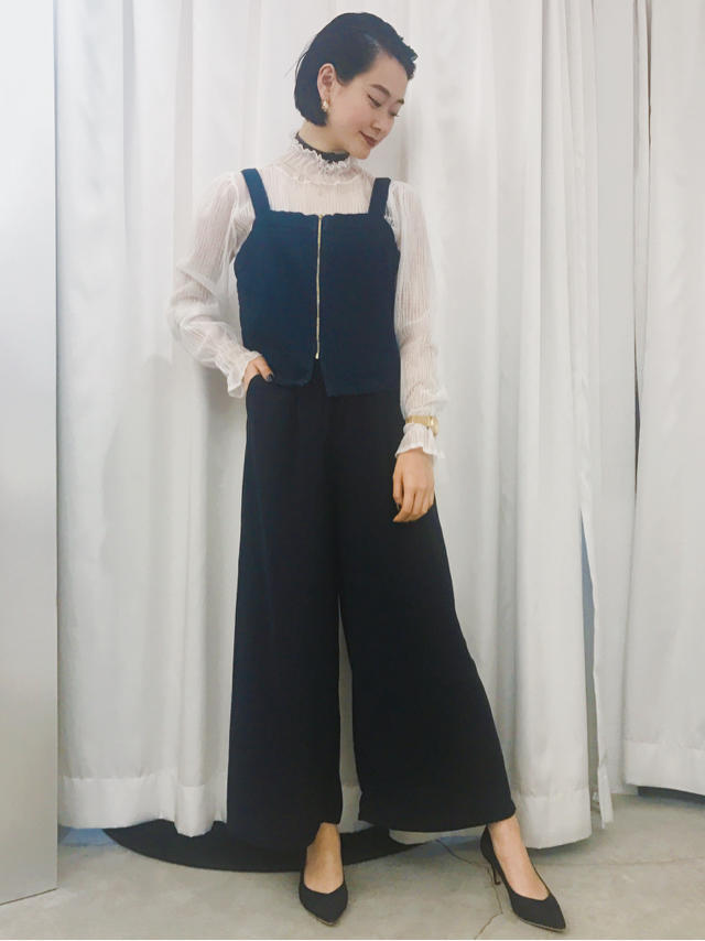 denim × navy coordinate②@こせ