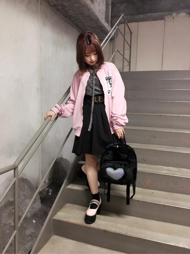 \♥︎/池袋店:Pink × BlackでまとめたCasual Girly Code