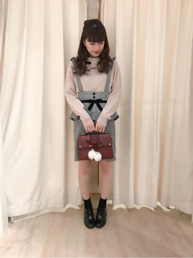 天王寺MIO♡Pink×Blackで大人Girly coordinate...♡✧‧˚
