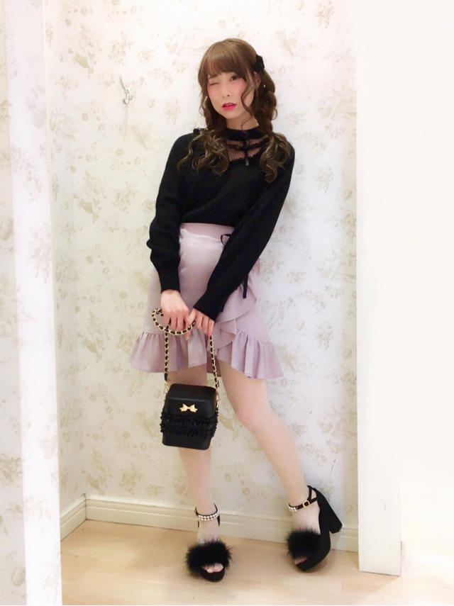 原宿店♡フリルがPoint♫pink×blackのCoquettish Coordinate♡