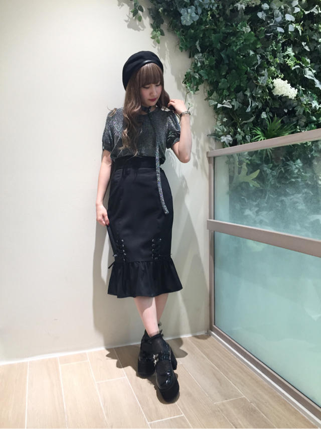 ラメがpoint♡black coordinate